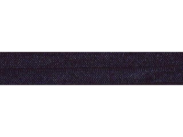 Biais élastique pré plié 15mm Bleu marine