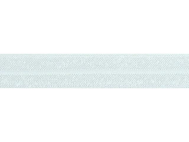 Biais élastique pré plié 15mm Blanc