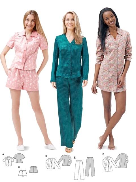Patron Pyjama & Chemise De Nuit