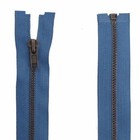 Fermeture Métal Bronze bleu jeans