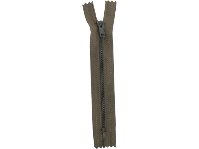 Fermeture métal fine kaki
