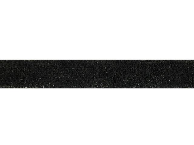 Ruban velours métallisé 15 mm noir