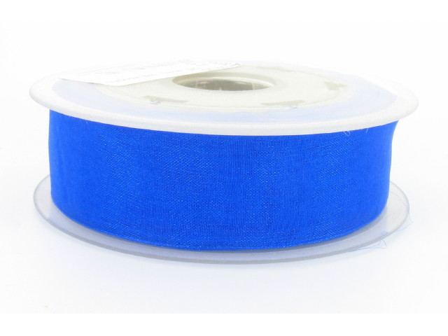 Ruban organdi 38mm bleu flash
