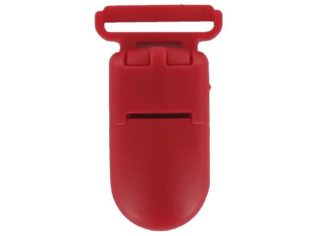 Clips plastique rouge