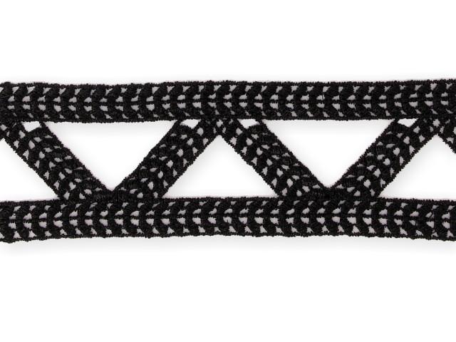 "Galon ""Triangle"" 50mm noir"