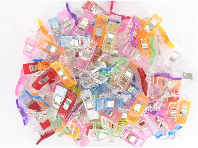 Pinces à tissus multicolores  x 50 pièces