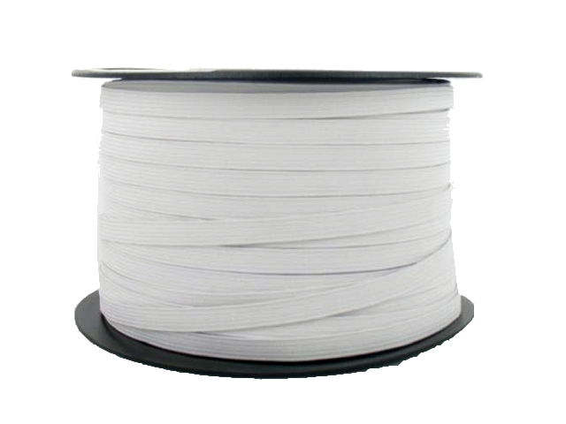 Élastique souple blanc