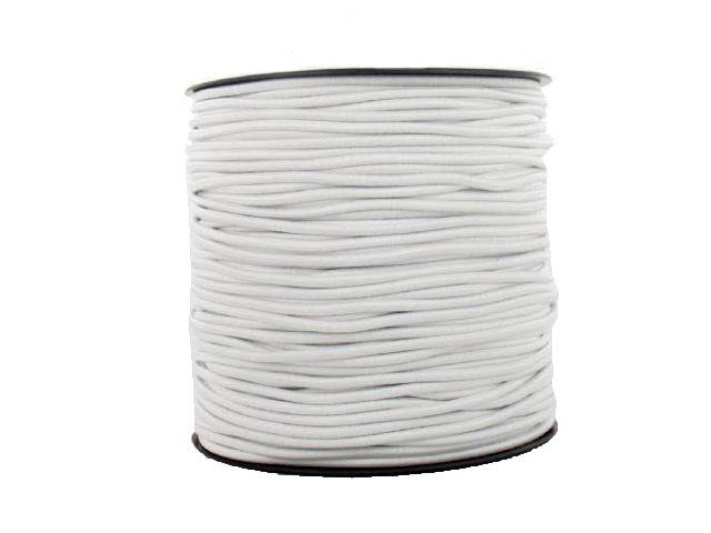 Élastique rond blanc
