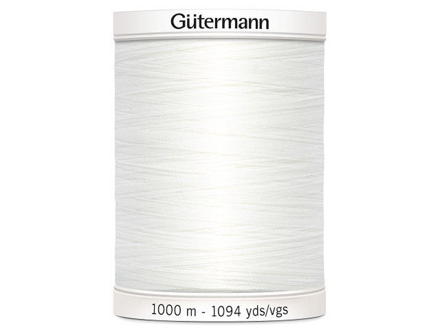 Fil à coudre Gütermann 1000m col : 800 blanc