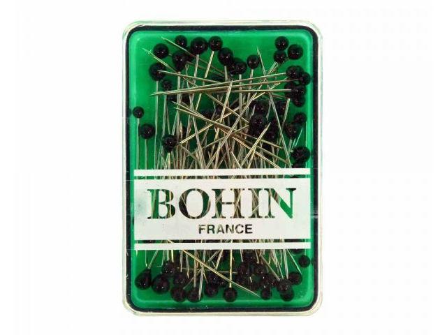 80 Épingles tête de verre noir 30 x 0,60 mm  Bohin