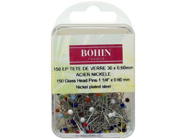 150 Épingles tête de verre assorties 30 x 0,60 mm Bohin