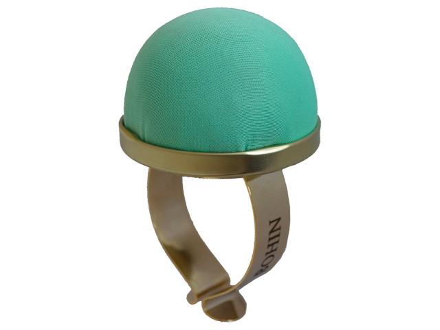 Bracelet porte épingles doré vert d'eau