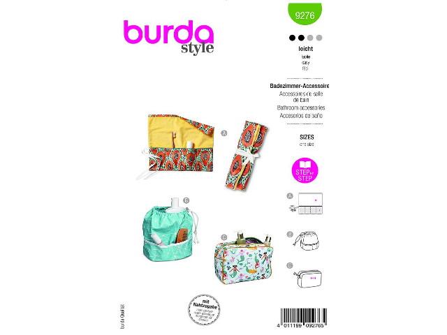Patron de couture Burda Accessoires de salle de bain 9276