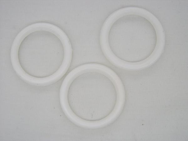 Anneaux rideaux blanc diamètre 24mm