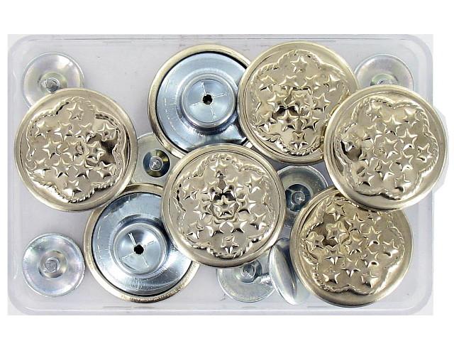 boutons jeans 17 mm argent