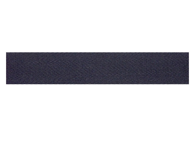 Sergé coton 13 mm marine