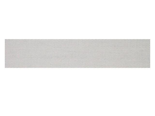 Sergé coton 15 mm blanc