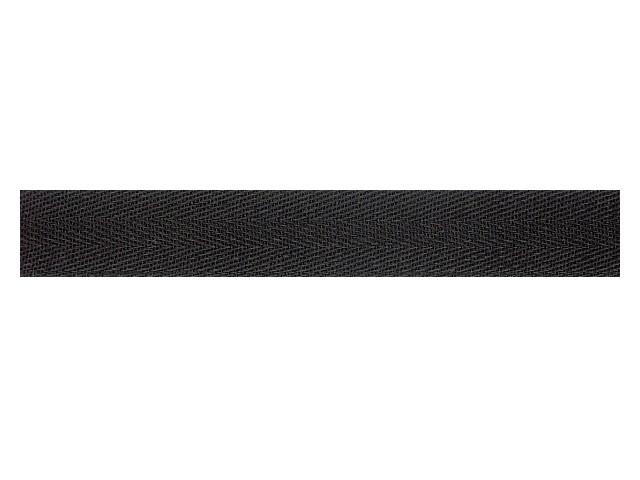 Sergé coton 28 mm noir