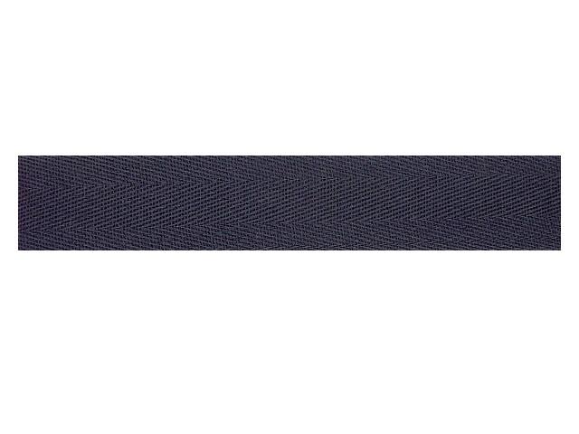 Sergé coton 32 mm marine
