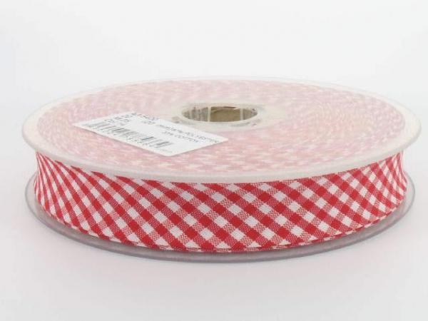 Biais vichy 2 cm rouge
